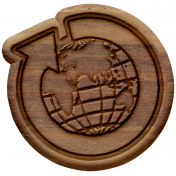 Oh The Places You'll Go Elements- Wood Globe