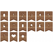 The Good Life: June Alpha- Wooden Cutout Numbers