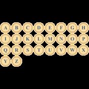 Remembrance Print Alpha- Yellow, Navy & Brown Letterpress Letters