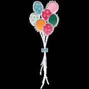 The Good Life- June Birthday Elements- Enamel Balloons