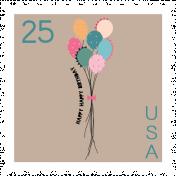 The Good Life- June Birthday Elements- Birthday Stamp 4