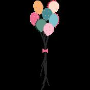 The Good Life: Birthday Illustations- Balloons 2 Color
