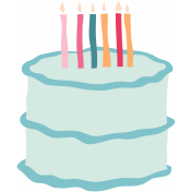 The Good Life: Birthday Illustrations- Cake 1 Color