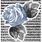 Rememberance Elements Kit- Rose Sticker Blue