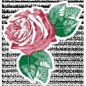 Rememberance Elements Kit- Rose Sticker Red