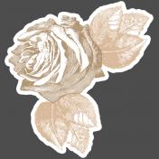 Remembrance Mini Kit- Rose Sticker