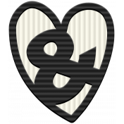 The Good Life: July Mini Kit- Rubber Ampersand Heart