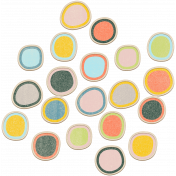 The Good Life July Elements - Chipboard Circles Color