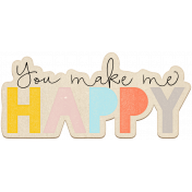 The Good Life July Elements- Chipboard Happy Color