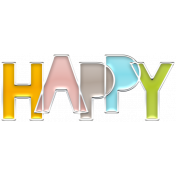 The Good Life July Elements- Enamel Happy