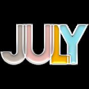 The Good Life July Elements- Enamel July