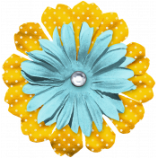 The Good Life July Elements- Flower 7 Blue