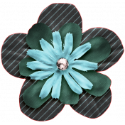 The Good Life July Elements- Flower 8 Blue