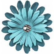 The Good Life July Elements- Flower 9 Blue