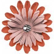 The Good Life July Elements- Flower 9 Coral