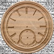Go West-Elements-Wood Clock