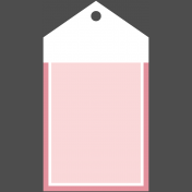 Flower Power Elements Kit- Tag Rectangle Pink