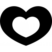 The Good Life-October- Heart Hollowed Template