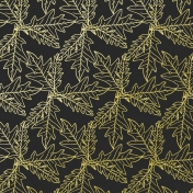 The Good Life-October- Papers- Paper Leaves Pattern Drawn Dark