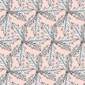 The Good Life-October- Papers- Paper Leaves Pattern Drawn Light