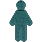 Family Traditions Elements- Rubber Person 2 Teal