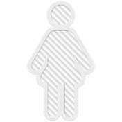 Family Traditions Elements- Rubber Person 1 White