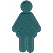 Family Traditions Elements- Rubber Person 1 Teal