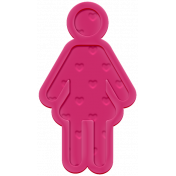 Family Traditions Elements- Rubber Child 2 Pink