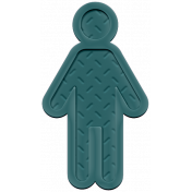 Family Traditions Elements- Rubber Child 1 Teal
