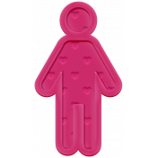 Family Traditions Elements- Rubber Child 1 Pink