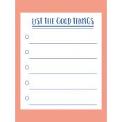 The Good Life - November Cards Kit - Card 01 3x4