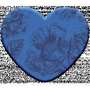 The Good Life - November Elements - Chipboard Heart Blue