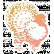 The Good Life - November Elements - Sticker Turkey
