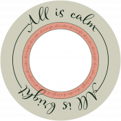 The Good Life: December Carols- All Is Calm Tag