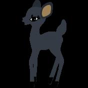 The Good Life- December Elements- Sticker Navy Deer