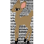 The Good Life - December Elements - Sticker Deer Tan
