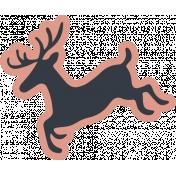 The Good Life- December Elements- Sticker Reindeer 3