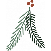 The Good Life- December Elements- Sticker Pine Branch