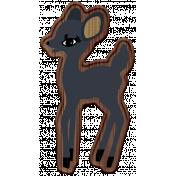 The Good Life- December Elements- Wood Deer 3