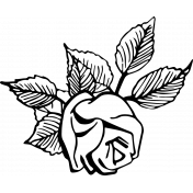 SciFi Stamps- Flower 6 Stamp