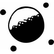 SciFi Stamps- Planet 2 Stamp