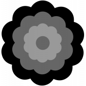 Layered Shape Templates - Kit 01 - Flower Shape 02A Template