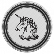 The Good Life- January 2019- Elements Kit- Badge Unicorn