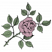 SciFi Elements- Sticker Rose 1