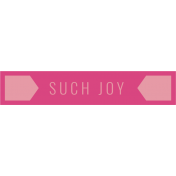 The Good Life: January 2019 Elements Kit- Label- Such Joy
