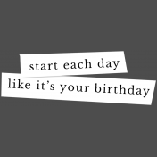 The Good Life: January 2019 Elements Kit- Label-Start Day Birthday