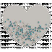Shaker Pockets Kit- Beads- Heart Filled