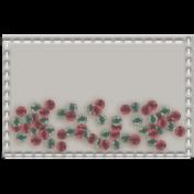 Shaker Pockets Kit- Beads- Rectangle Filled