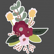 The Good Life: February Elements- Sticker Flower Bouquet 2