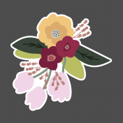 The Good Life: February Elements- Sticker Flower Bouquet 3